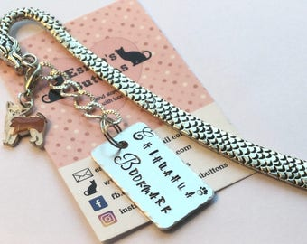 Chihuahua gift, Chihuahua Bookmark, Handstamped Bookmark, reader Gift,  Gift for her, gift for him, gift for a reader