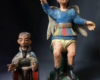 Antique San Antonio and San Miguel figures from Guatemala