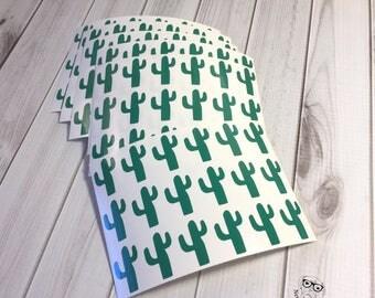 Cactus Stickers, 108, Cactus Sticker Set, Cactus Envelope Seals, Cactus, Scrapbook Stickers, Cactus Planner Stickers, Cactus party stickers