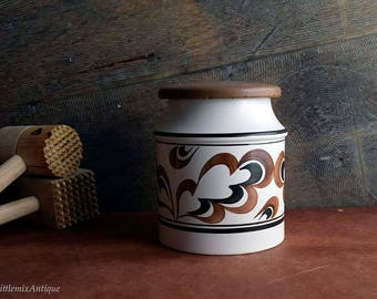 Vintage Woods England Edward Radford England Handpainted 1212 Lidded Storage Jar/Container Retro English Ironstone Vintage Kitchenware