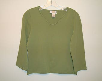 Talbots Oive Green Top