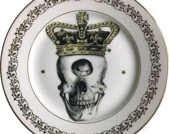 Cyclops King - Skull - Vintage Porcelain Plate - Limoges France #0498