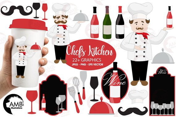 Chef Clipart Kitchen Wine Master