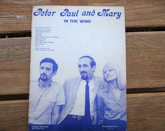 Peter Paul and Mary  In The Wind & other Songs Sheet Music
