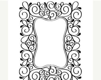 Darice® Embossing Folder - Scroll Frame - 4.25 x 5.75 inches, scrapbooking, card making, greeting cards, invitations and more