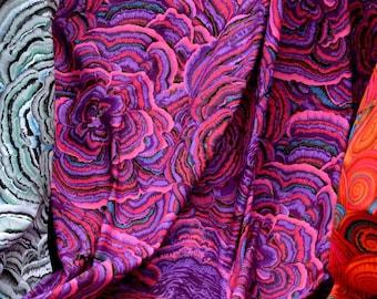 Tree Fungi in Purple  PWPJ082.PURPL Philip Jacobs Kaffe Fassett Collective Classics Free Spirit Fabric