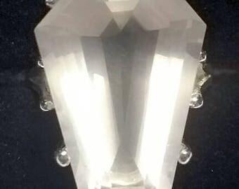 3ct Coffin Gem -  Rose Quartz - Crystal Collection