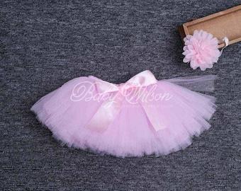 RTS PINK Tutu Baby Tutu Newborn Tutu Set Tutu And Headband Set Sweet Pink Radiance Tutu Set Pink Baby Tutu Baby Girl Tutu Newborn Photo Prop