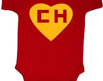 Chapulin Colorado Chespirito Spanish Funny Baby Bodysuit Awesome Ropita de Bebe en Espanol Black w/White Cool Personalize Baby Shower Gift