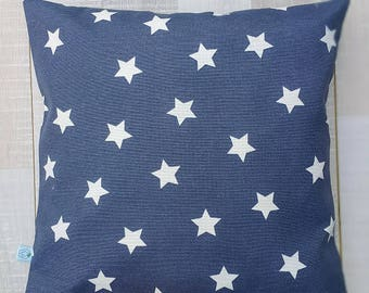 """Gray White STARS Decorative Pillow Cover - American Flag, Cushion case - Home - 16"""" x16"""" - living room, Spring Summer Home Decor, Christmas"""