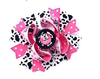 Farm Bow, Farm Hair Bow, Farm Hair Clip, Farm Hairbow, Farm Baby, Cow Baby, Cow Hair Bow, Cow Bow, Cow Hair Clip, Cow Hairbow, Cow Print Bow