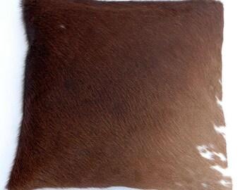 Natural Cowhide Luxurious Hair On Cushion/ Pillow Cover (15''x 15'') A17