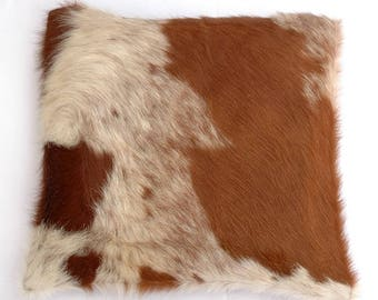 Natural Cowhide Luxurious Hair On Cushion/ Pillow Cover (15''x 15'') A56