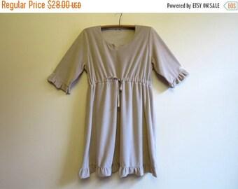 ON SALE Light Grey Dress Pastel Grey Velvet Dress Ruffled Velvet Dress Soft Velvet Knee Dress Tie Dress Extra Large Size