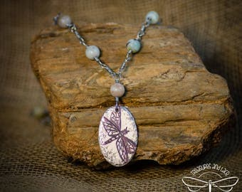 Dragonfly Pendant with Amazonite