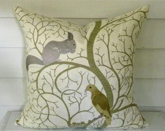 Sanderson Embroidered  Pillow Cover