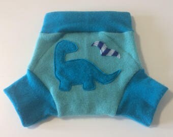 LARGE 100% Wool Cloth Diaper Cover, Upcycled Wool Soaker, Wool Shorties