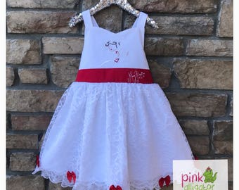 Mary Poppins inspired dress and bloomers costume