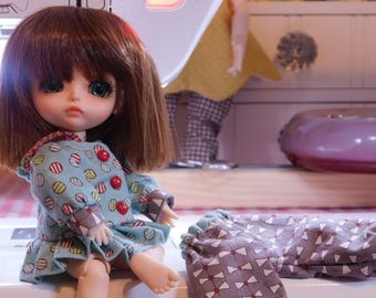 Three Piece Outfit for 1/8 BJD Size Dolls Such as Lati Yellow and Pukifee