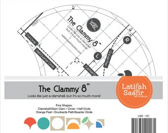 Clamshell Acrylic Ruler Template by Latifah Saafir LSS-101 - 8 Inch template
