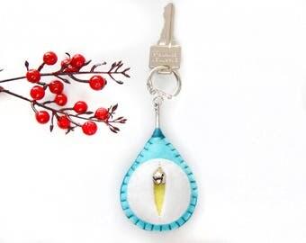 Vagina key chain, vulva keyfob, lesbian keyring, gay housewarming gift, feminist totem, midwifery gift, as seen on HuffPo.com {Jones Key}