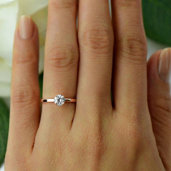 1 2 ct Promise Ring Engagement Ring Round Solitaire Ring