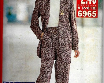 25% OFF Butterick 6965    Misses Jacket, Pants and Top   Size 6-10 or 12-16 or 18-22  Uncut