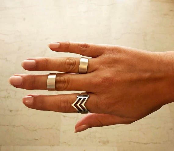 Boho Silver Rings • Adjustable Ring • Statement Rings • Stacking Ring • Chevalier Knuckle Midi • Silver Plated Brass Ring