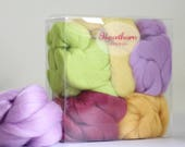 Spring Wool Bundle - Felting Wool - spring needle felting wool - mixed spring wool - textile project - craft gift - merino wool