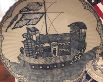 Oversize Chinoiserie platter