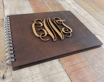 Wood Wedding Guest Book, Rustic Guestbook, Personalized guestbook, Wood Guest Book, Custom Guest Book, Guest book Wedding Calligraphy