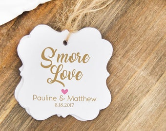 Smore Love Tags (24) - Wedding Favor Tags - Smore Love - Favor Tags - Personalized Wedding Tags - Bridal Shower Hangtags