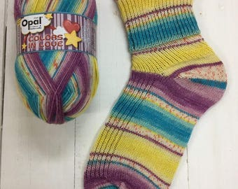 Exciting Wink 9513  - Colors in Love 4 ply Sock Yarn by Opal - sock wool - sokenwolle