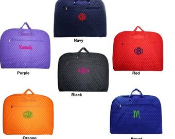 Beautiful, Personalized QUILTED GARMENT BAG