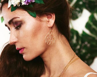 Gold plated earring tropic
