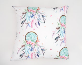 Pink Dreamcatcher Cushion Cover