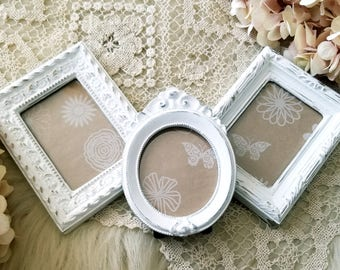 vintage frames mini frames shabby chic frames wedding picture frames ornate - Mini Picture Frame