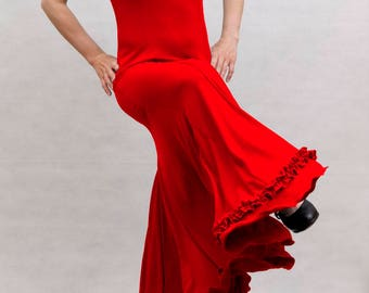 Albai Flamenco Dress, Red