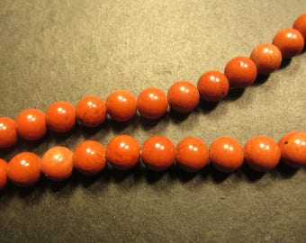 Gemstone red jasper beads