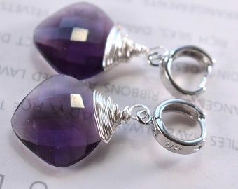 earrings, African amethyst earrings, amethyst earrings, sterling silver earrings, bohemian earrings, boho chic earrings, Christmas for her