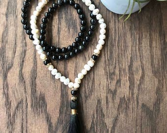 Fire and Sea glam mala necklace