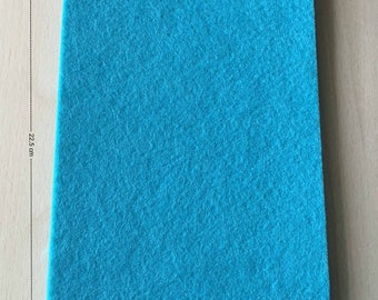 Coupon of 3 mm thick turquoise felt