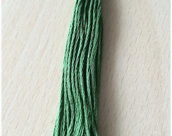 DMC stranded 987 Basil green six strands