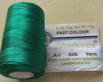Rayon thread / artificial silk 105 jade