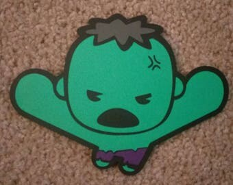 Marvel's The Avengers The Hulk - Kawaii Style - Die Cut