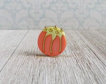 Pin Cushion - Sewing Pin Cushion - Tomato Pin Cushion - Quilting - Seamstress - Lapel Pin