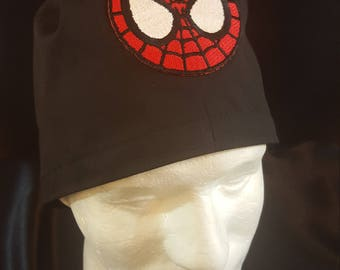 The Amazing Spiderman Patch Tie Back Surgical Scrub Hat Cap
