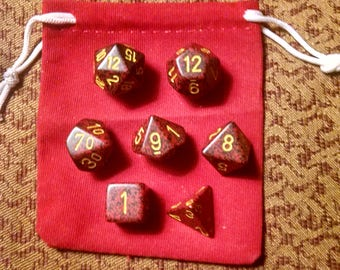 Bloody Steel - 7 Die Polyhedral Set with Pouch
