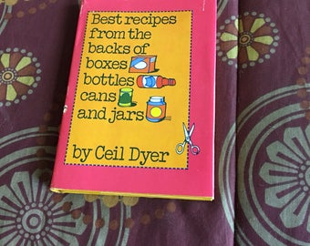 Vintage 1979 Best Recipes From the Backs of Boxes, Bottles, Cans and Jars Cookbook