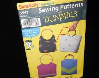 Soft Purses Simplicity 5567 Soft Bags Satchel Purse Tote